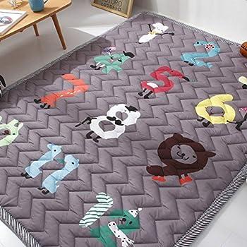 Cusphorn Digital Kids Rugs Antiskip Baby Crawl Mat Children Play Carpet For Bedroom Living Room Playroom