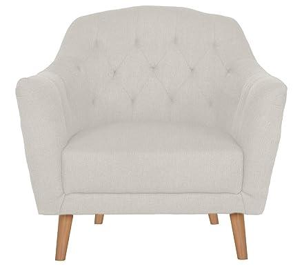 CLP Polster-Sessel LOVIS mit Stoffbezug, stilvolle Ziernähte und dicke Polsterung, langlebiger Sitzkomfort, FARBWAHL weiß