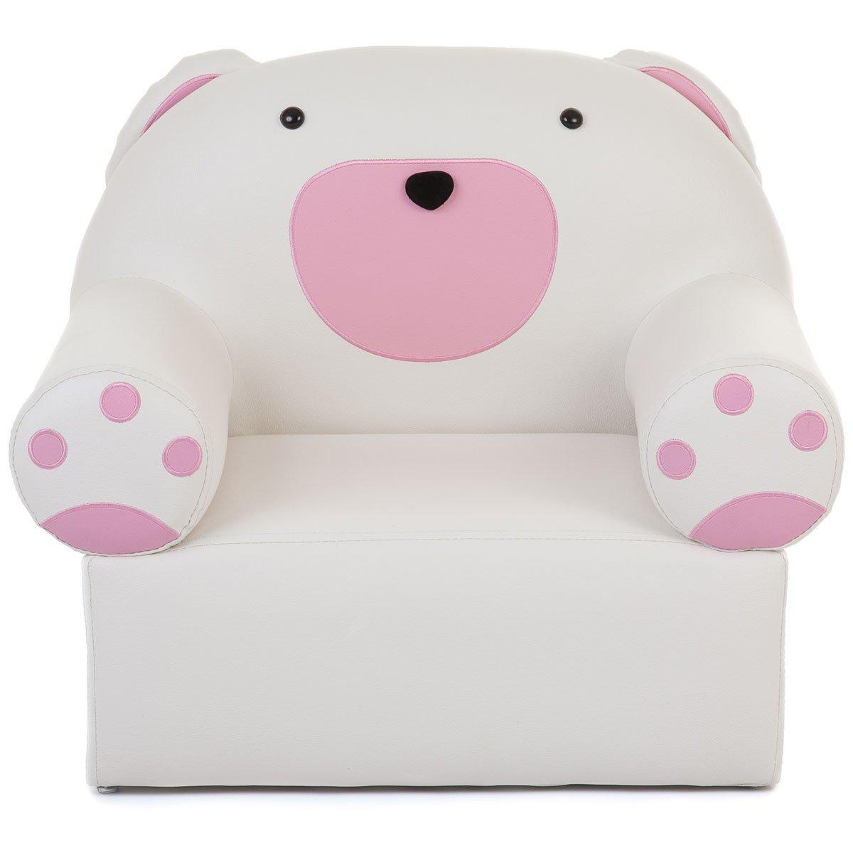 Kids 'weiß und pink Bär Stuhl