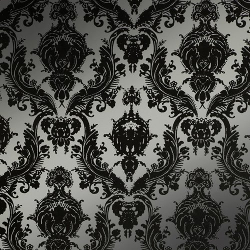 Tempaper Designs DA 019 Damsel Self-Adhesive Temporary Wallpaper, Metallic Silver