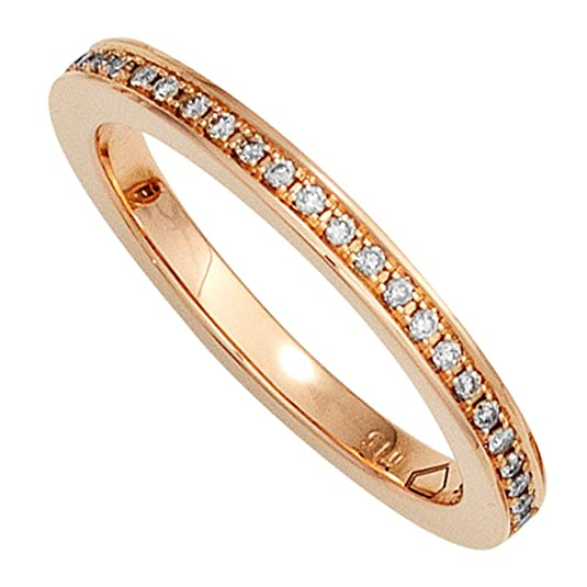Ladies RING 585 Rose Gold Diamonds Jobo 15ct 0, 25 Brilliant Gold. Gold Ring