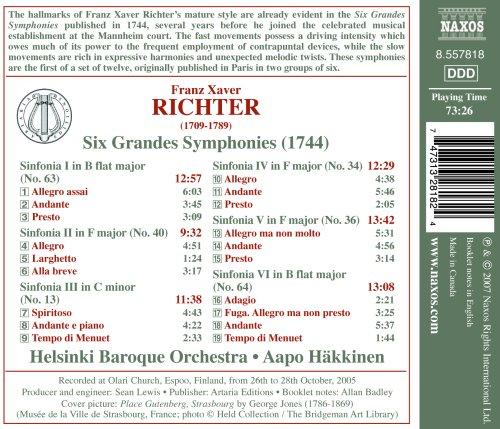 Опера и Вокал Richter: Six Grandes Symphonies