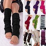 Senchanting Women Winter Warm Leg Warmers Knitted Crochet Long Socks