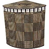 Ore International Bw1204aa Checker Print Bow Corner Laundry Basket 20 Inch