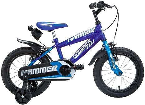 Schiano - Vélo en acier avec roulettes, levier de frein en résine, 2freins Caliper et pédalier Fauber + gourde offerte