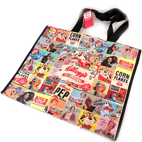 Official Kellogg's Retro Cereal Boxes multi-image shopping bag. Unique design.