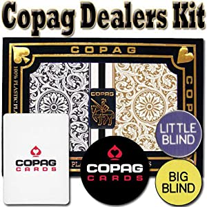 Copag Dealer Kit Poker Regular (Black & Gold)