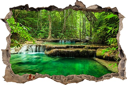 pixxp-3d-wd-s2504-92x62-awesome-river-in-the-rainforest-wall-breakthrough-3d-home-art-decoration-wal