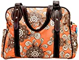 House of Botori Ginika Tote Bag, Twirl Tangerine