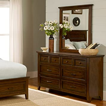 Laurel Creek 6 Drawer Dresser - Cinnamon