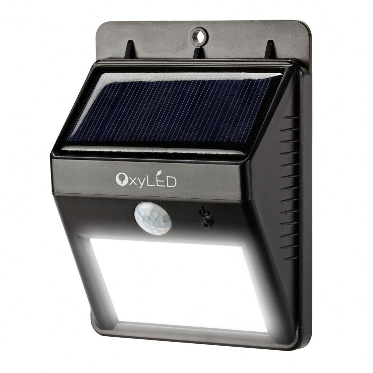 oxyled sl30 bright outdoor led light solar powered. Black Bedroom Furniture Sets. Home Design Ideas