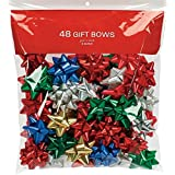 BERWICK OFFRAY 14101888-BG48 48 Count Class Luxury Bows for Christmas Decoration