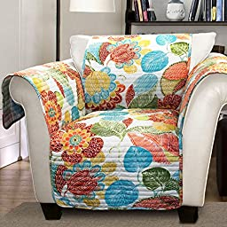 Lush Decor Layla Slipcover/Furniture Protector for Armchair, Orange/Blue