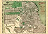 Cavallini & Co. San Francisco Map Decorative Decoupage Poster Wrapping Paper Sheet
