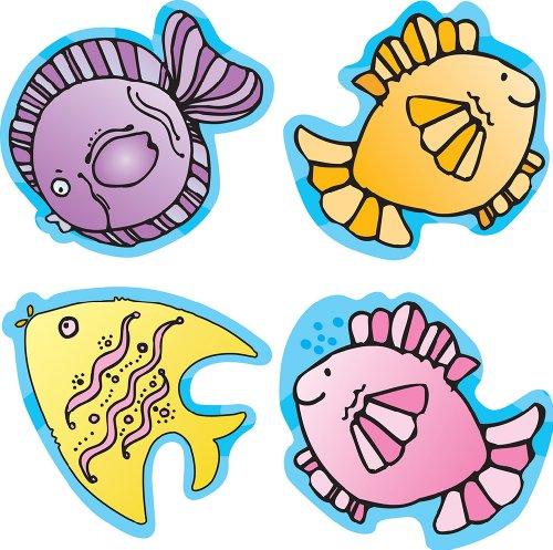Carson Dellosa D.J. Inkers Fish Shape Stickers (668034)