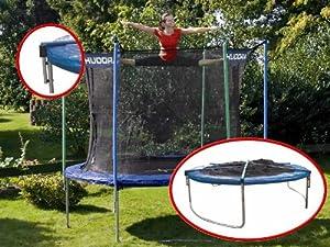 hudora trampoline 305 avec filet pliable et b che anti pluie sports et loisirs. Black Bedroom Furniture Sets. Home Design Ideas