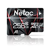 256GB Micro SD Card, Netac Memory Card MicroSD High Speed Transfer A1 C10 U3 MicroSDXC TF Card for Cemera/Phone/Nintendo-Switch/Galaxy/Drone/Dash Cam/GOPRO/Tablet/PC/Computer with Adapter (Tamaño: 256GB)
