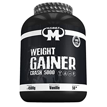 Mammut Weight Gainer Crash 5000, Kohlenhydrate Masseaufbau Kreatin, Vanille , 4.5 kg, 1er Pack