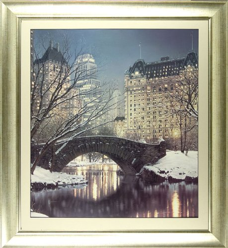 'Twilight in Central Park' by Rod Chase - High Quality Framed Print (frame size 97 cm W x 102 cm H)