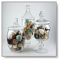 Apothecary Jar 3 Piece Set
