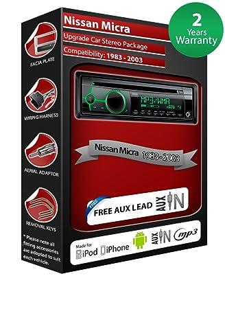 Nissan Micra de lecteur CD et stéréo de voiture avec radio Clarion CZ102EG AUX avant
