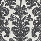 Erismann Regal Damask Black and White 9698-15