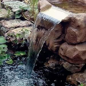 Trademark deluxe waterfall pond kit diy for Garden pond amazon