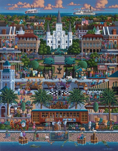Jigsaw Puzzle - New Orleans 1000 Pc By Dowdle Folk Art