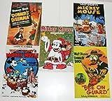 Disney Postcards - reprints of 1930's vintage covers / posters / magazines - Set 5 (5 postcards). Disney / Classico - Postcard size: 4 1/4 x 6.