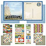 Scrapbook Customs Themed Paper and Stickers Scrapbook Kit, Minnesota Vintage