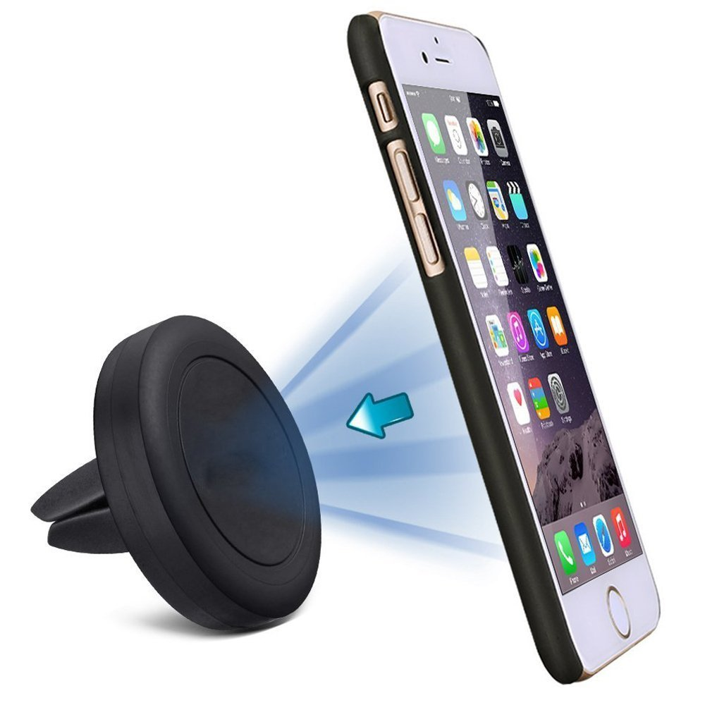 Amuoc MagGrip Air Vent Magnetic Universal Car Mount Holder for Galaxy S6/S6 Edge, LG G4, Apple iPhone 6, 6S, iPhone 5S 5C 5 4S, Samsung Galaxy S5 S4 S3, HTC M9, Amazon Fire Phone