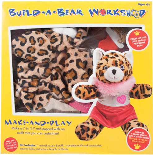 Colorbok Build A Bear Kit, Leopard Diva front-329709