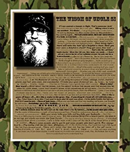 of Uncle Si Wall Posters (Version 1 and 2) Package Famous Quotes By Si