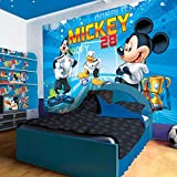 Disney Mickey Mouse and Friends Football Goal Wallpaper Mural