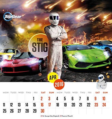 The Official Top Gear 2016 Desk Easel Calendar (Desk Calendar)