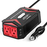 BESTEK Pure Sine Wave 300W Power Inverter DC 12V to AC 110V with 4.2A Dual Smart USB Ports Car Adapter