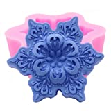 MoldFun 3D Snowflake Shaped Silicone Molds for Soap Chocolate Candy Wax Melts Resin Oreo Candle Lollipop Ice Cube Jello Cake Decorating Sugar Craft Molds