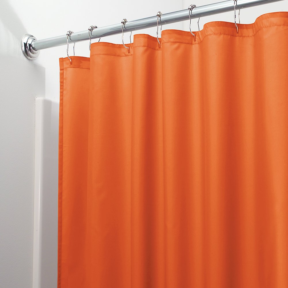 Easy Care Bathroom Bath Machine Washable Fabric Shower Curtain Orange Fast Ship Ebay