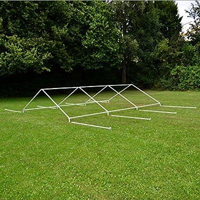 Nexos GM35940 Pavillons Hochwertiges Festzelt Partyzelt PE wasserdicht, 4 x 6 m, weiß von Nexos auf Gartenmöbel von Du und Dein Garten