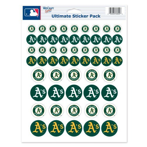 "Oakland A's Sticker Sheet 8.5""x11 by WinCraft"