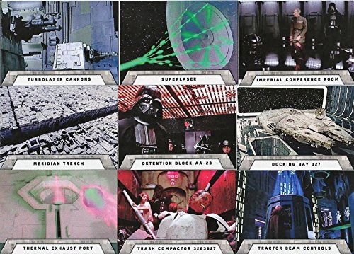 2016 Topps Star Wars Rogue One Mission Briefing Death Star 9 Card Set