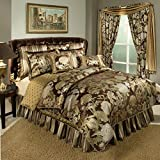 Austin Horn Classics Wonderland 4-Piece Bedding Collection, King, Brown