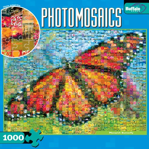 Cheap Buffalo Games Photomosaic: Monarch Butterfly 1000pc Jigsaw Puzzle (B003JMETQW)