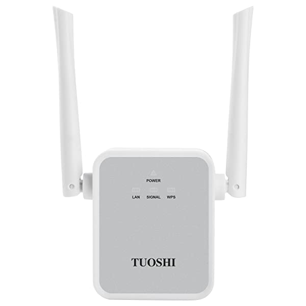 TUOSHI TS720W WiFi Range Extender, 300Mbps Wireless Signal Booster, WiFi Repeater/Access Point/Router with High Gain Dual External Antennas