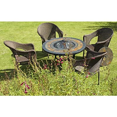 Durango - 4 Seater Garden Set - Fire Pit Barbecue Grill Table And 4 Chairs by Europa Leisure