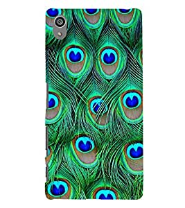 Peacock Wall Design 3D Hard Polycarbonate Designer Back Case Cover for Sony Xperia Z5 Premium (5.5 Inches) :: Xperia Z5 Plus