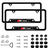Sparkle-um 2Pcs Newest Custom Personalized 4 Hole Matte Aluminum Alloy Nismo Logo License Plate Frame With Screw Caps Cover Set,Applicable To US Standard Car License Frame,For Nissan Nismo.