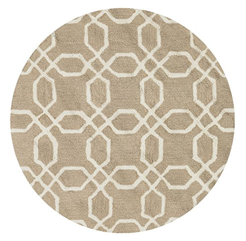 Loloi Rugs FRACFC-28BE00300R Francesca Round Rugs, 3-Feet by 3-Feet, Beige