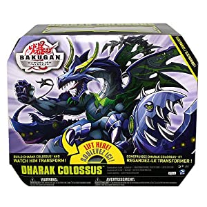 Bakugan - Gundalian Invaders - Dharak Colossus - includes - 2 Bakugan Battle Gear, 1 Bakugan, 1 Transformation Hub, 2 Abilitiy Cards & one Metal Gate Card - MIB