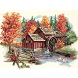 Dimensions 'Glory of Autumn' Seasonal Counted Cross Stitch Kit, 14 Count Ivory Aida, 14